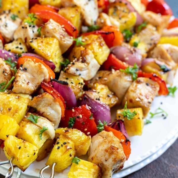 Pineapple Chicken Kabobs Wonkywonderful