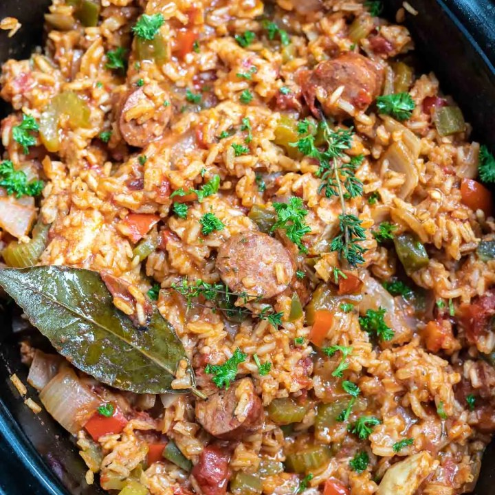 Chicken and Sausage Slow Cooker Jambalaya Recipe