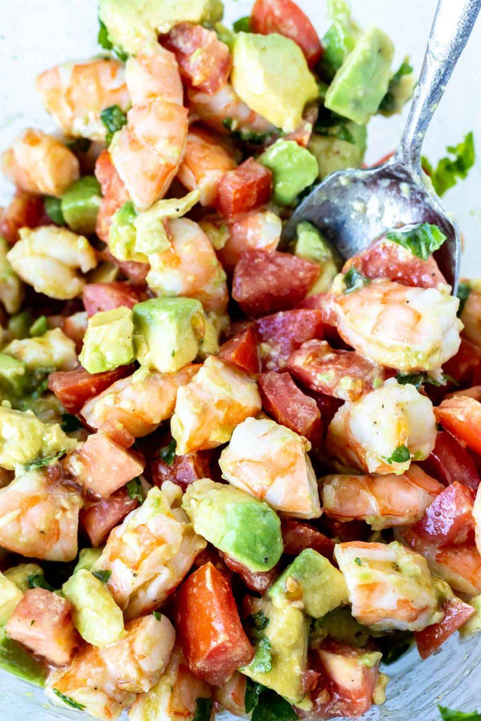 avocado shrimp tomato salad