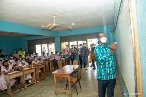 Education Minister picks marker to teach Algebra at Super KASS during a surprise visit - (Photos). 57
