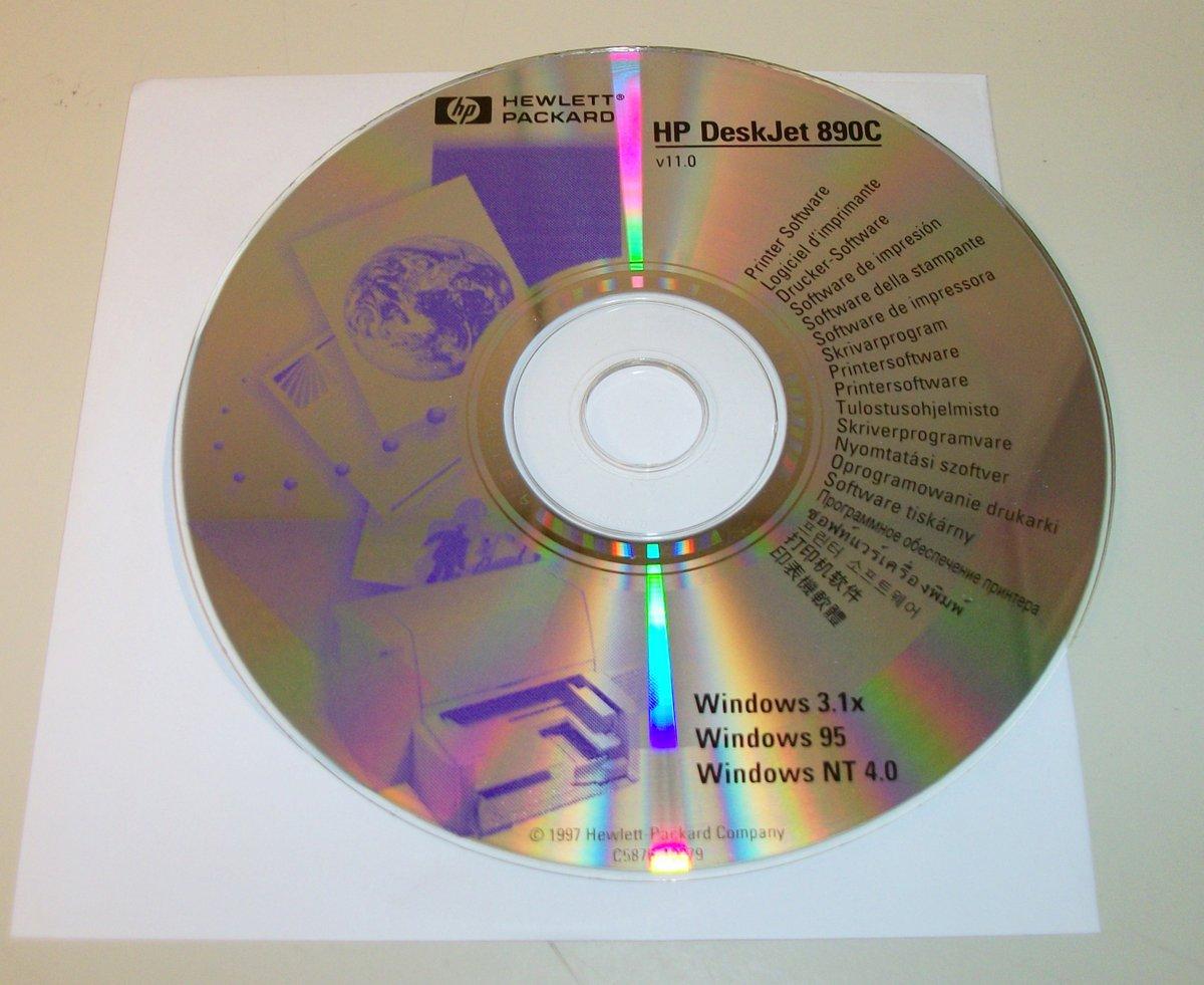 Hp deskjet 890c printer software discs & cd   ebay.