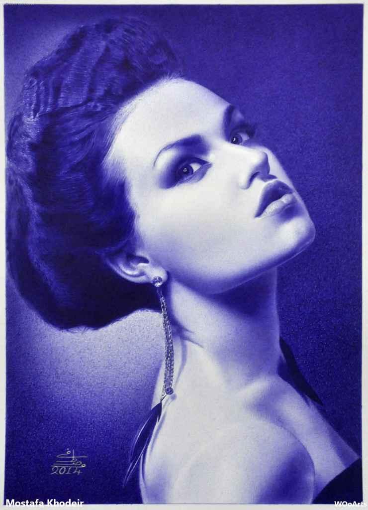 25 Dry Ink Drawings By Mostafa Khodeir