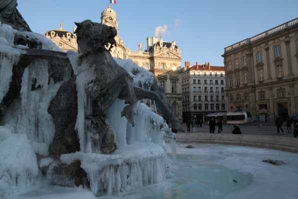 Fontaine Bartholdi Gelée