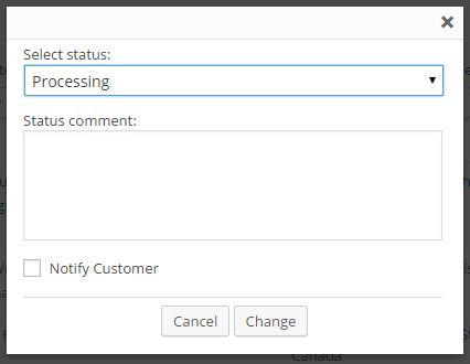 Change Order Status Notifier Dialog