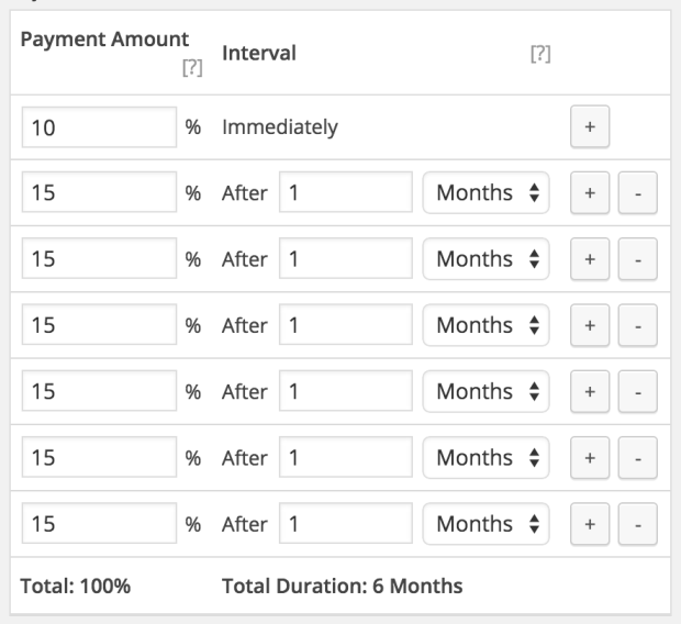 Setting up a payment plan.