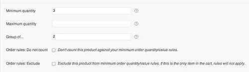 WooCommerce Min Max Quantities