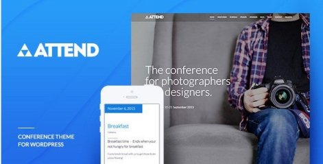Conference & Event WordPress Theme - Attend