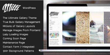 Milli - The Ultimate Photo Gallery WordPress Theme