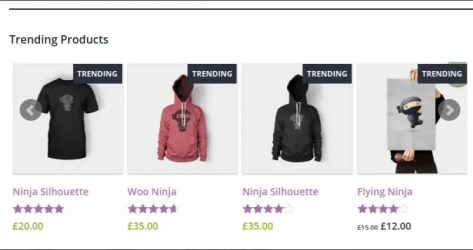 WooCommerce Trending Products