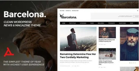 Barcelona - Clean News & Magazine WordPress Theme