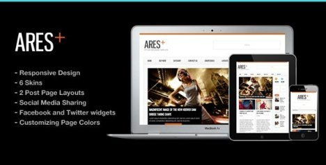 Ares Blog Magazine Newspaper Template