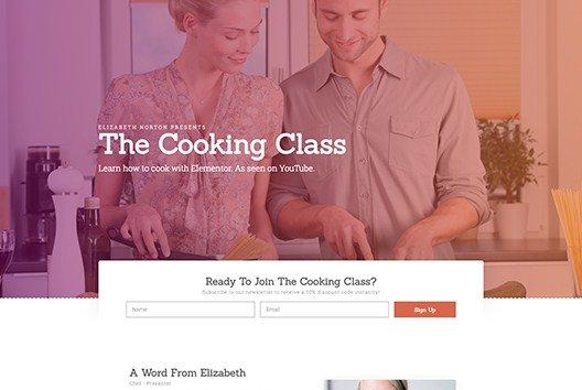 Elementorism Elizabeth Landing Page