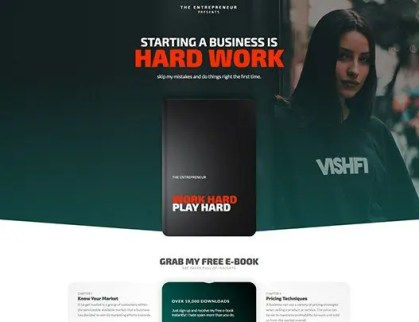 Elementorism The Entrepreneur Landing Page