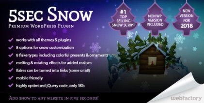 5sec Snow WordPress Plugin