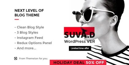 SUVAD - Personal Blog WP Theme