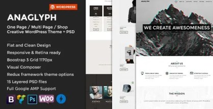 ANAGLYPH - One page / Multi Page WordPress Theme