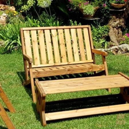 כיסא זוגי מעץ אורן