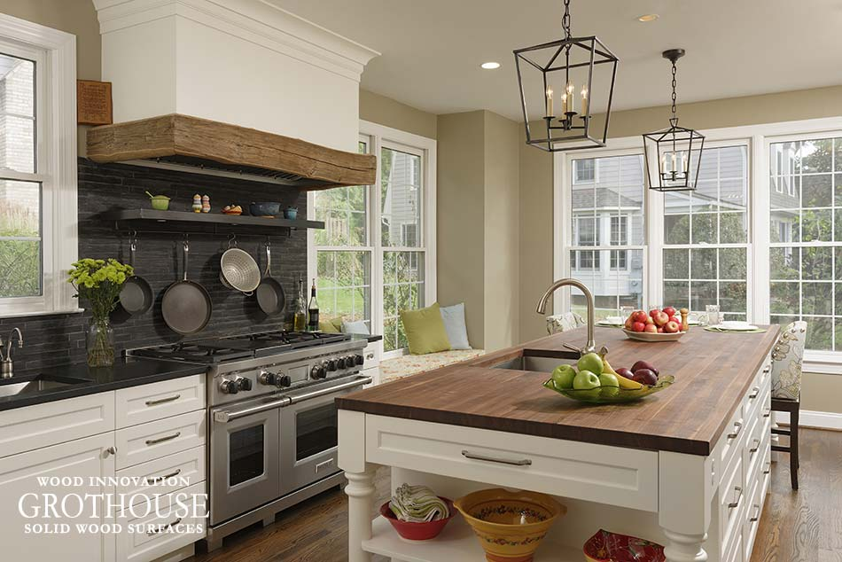 Wood Countertops for Farmhouse Style Kitchens - Wood ... on Farmhouse Countertops  id=67514