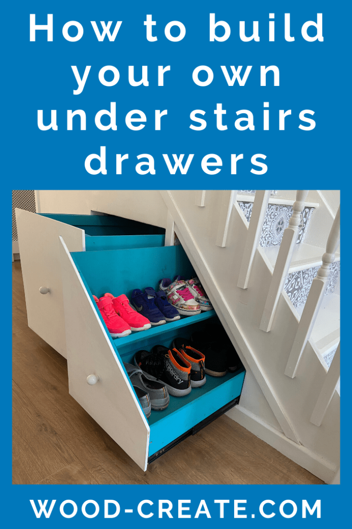 How to build your own under stairs drawers