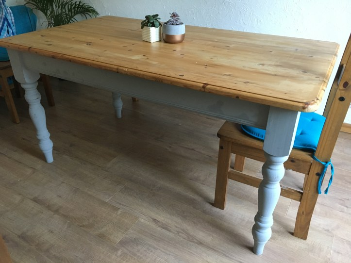 Farmhouse style wood table diy