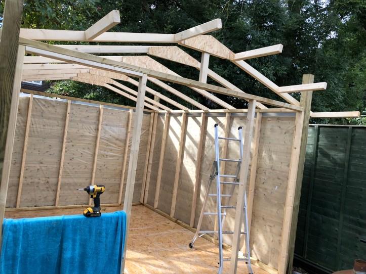 shed overhang