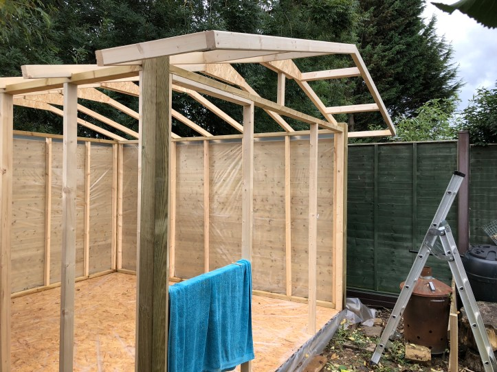 how to build your own shed - eaves