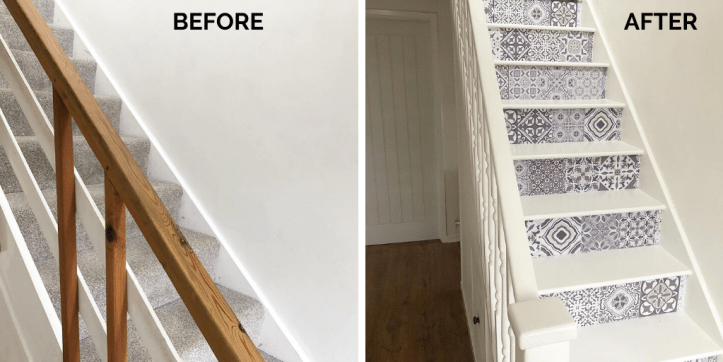 how to update staircase on a budget