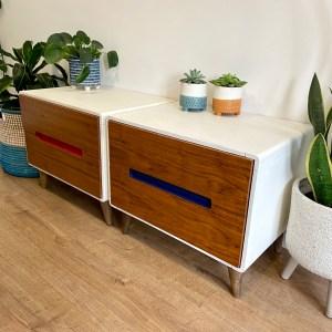 mid-century modern bedside tables