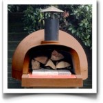 wood fired pizza oven terracotta