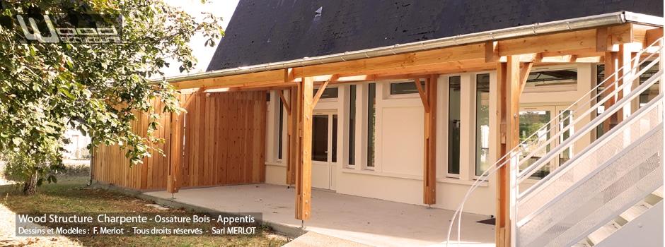 Kit Charpente Bois Batiment Garage Abris Wood Structure