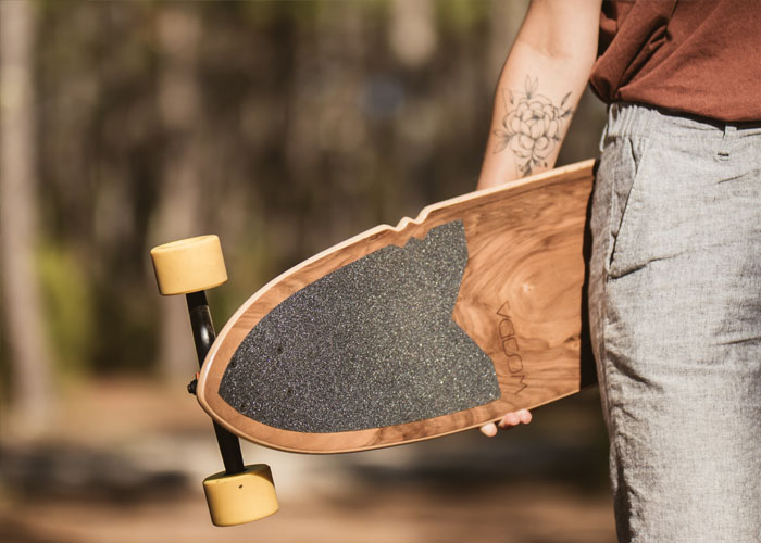 Modèle Longboard CRAZY JOE Noyer Hibou Dessus