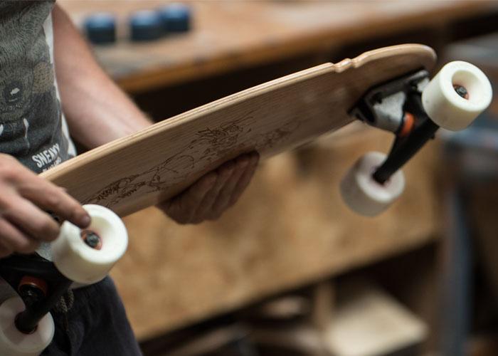 Modèle skateboard TINY JACK Merisier Canard