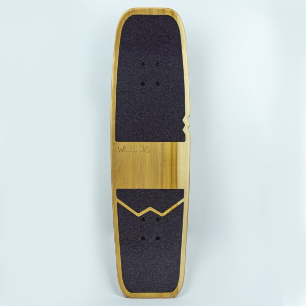 skateboard bois vue de haut