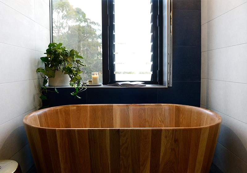 Image result for wood bathroom tub