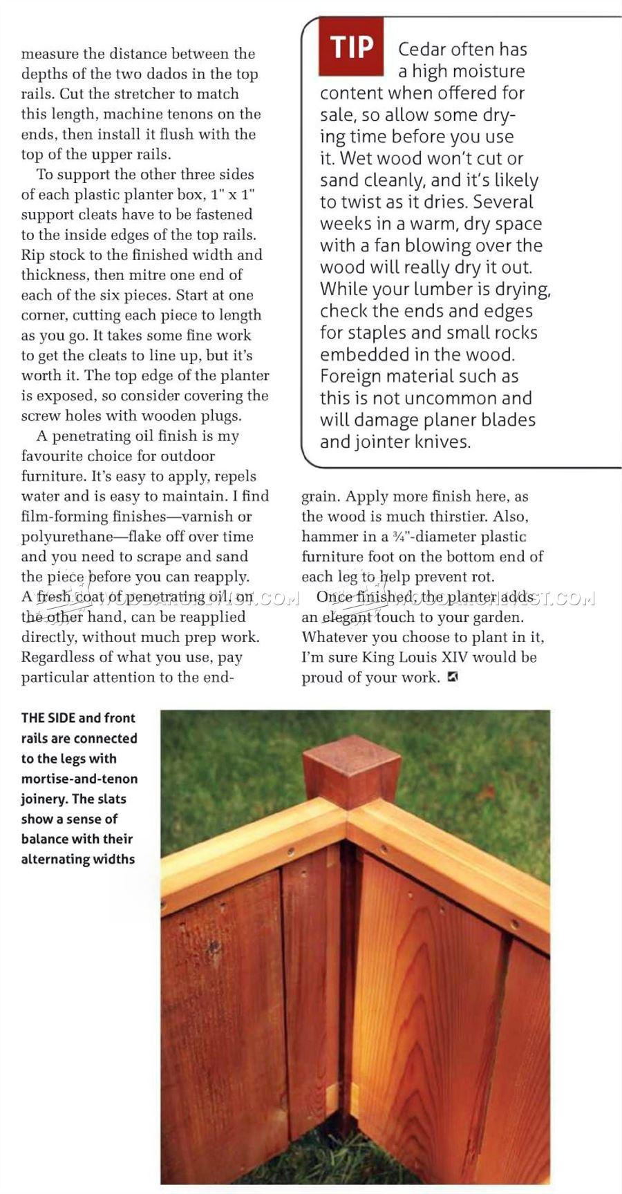 Wooden Planter Box Plans
