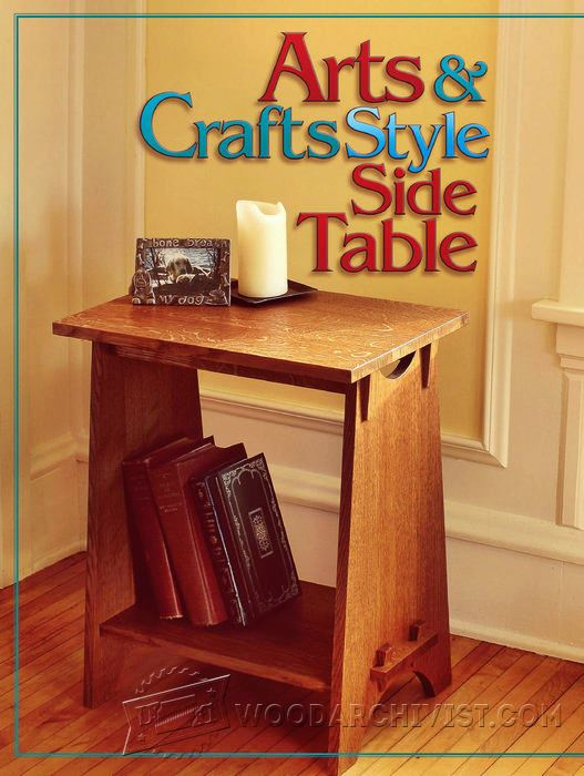 Art And Crafts Style Side Table Plans Woodarchivist