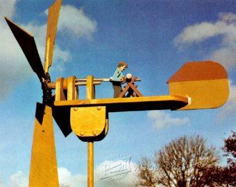 1734 Triplane Whirligig Plans WoodArchivist
