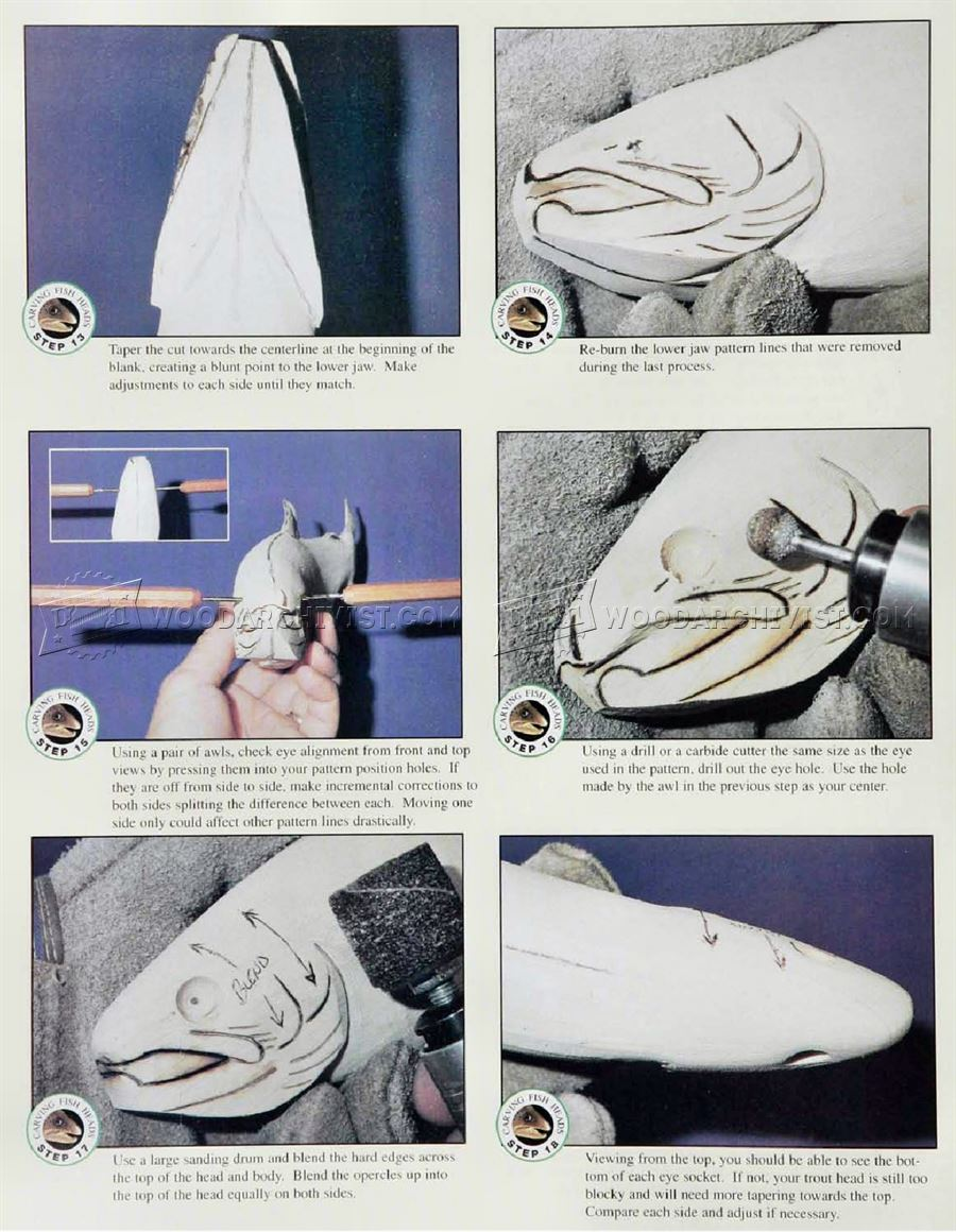 Carving Fish Heads Wood Carving Patterns WoodArchivist