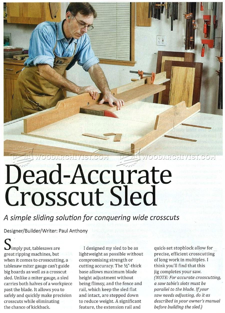 Easy Table Saw Crosscut Sled | Wallseat co