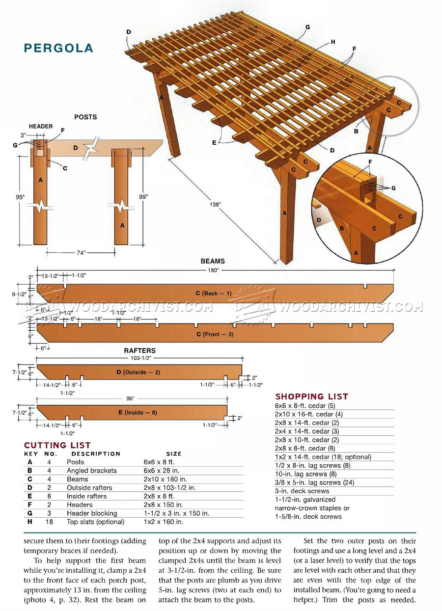 Porch Pergola Plans Woodarchivist