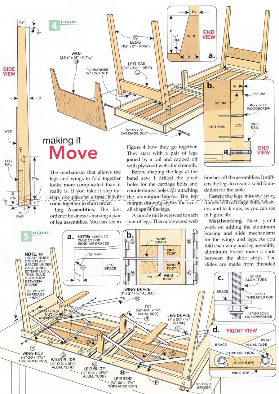 Folding Work Table Plans Woodarchivist