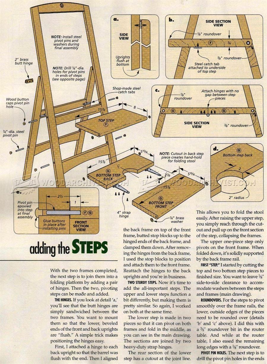 Folding Step Stool Plans WoodArchivist