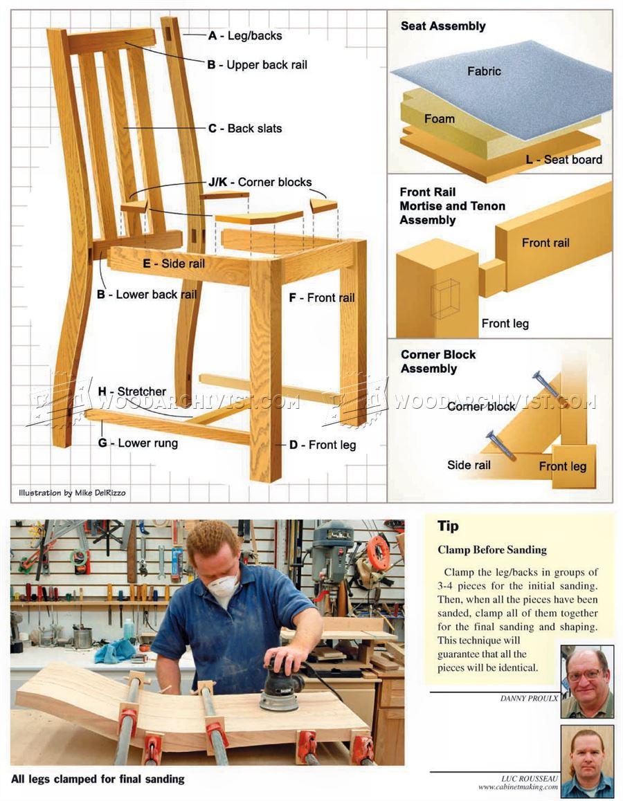 Dining Room Chair Plans WoodArchivist
