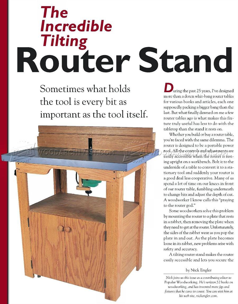 Tilt Top Router Table Plans WoodArchivist
