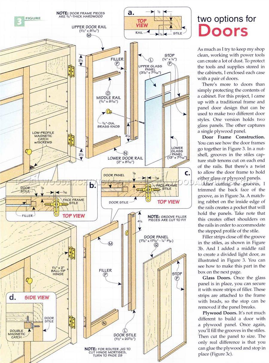 One Wall Workshop Plans Woodarchivist