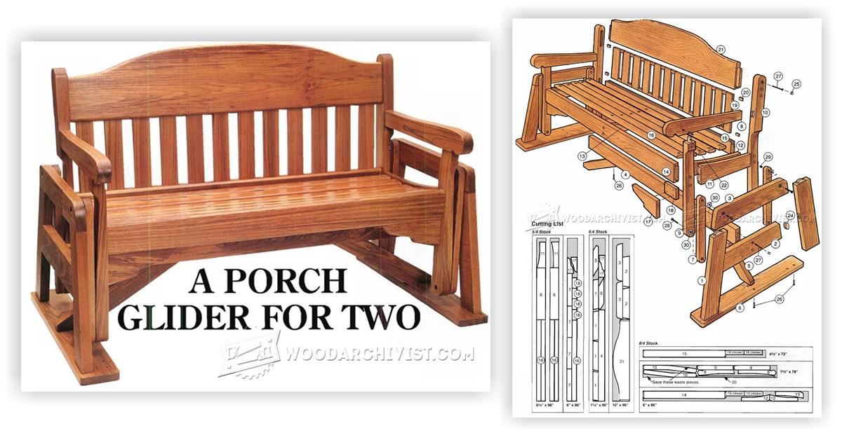 Glider Plans Porch Wooden Swing