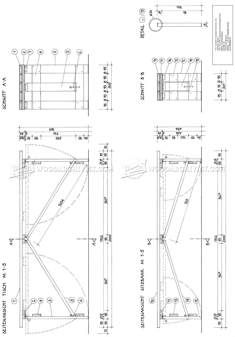 Folding Picnic Table Plans Woodarchivist
