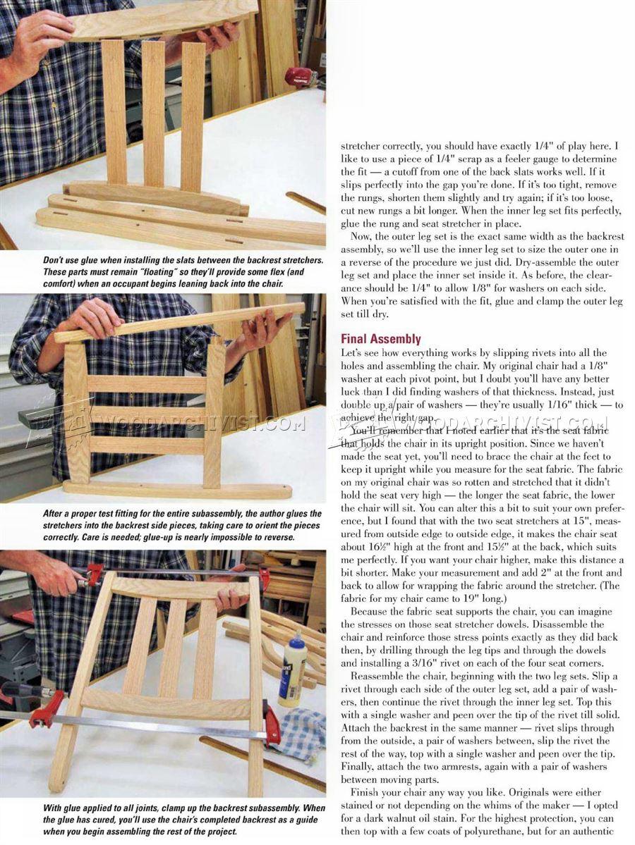 Civil War Chair Plans WoodArchivist