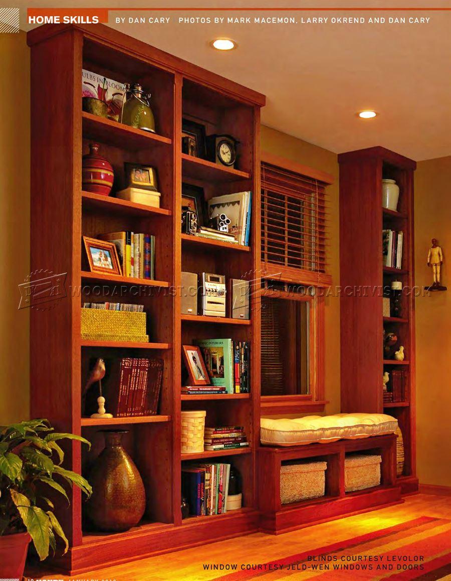 Built In Bookcase Plans Woodarchivist