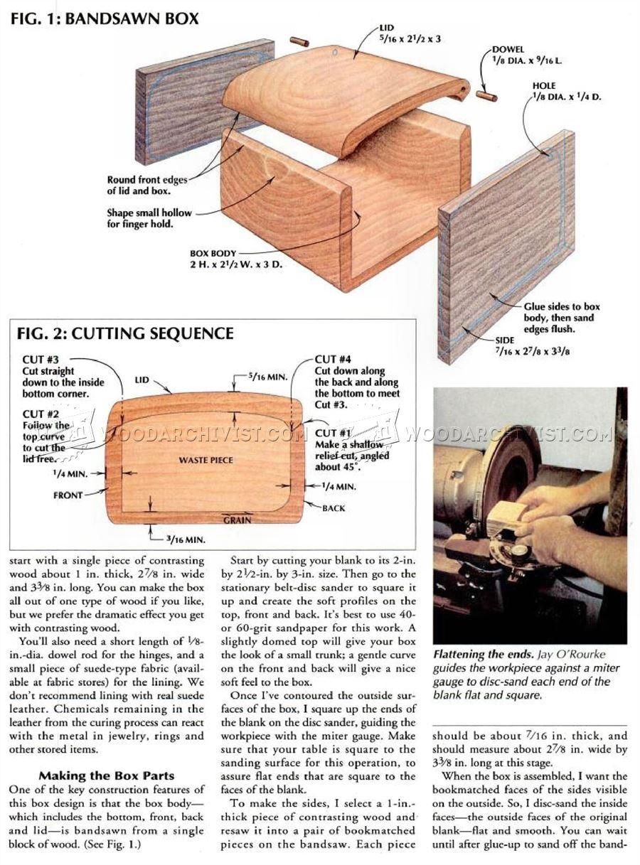 Bandsaw Wedding Ring Box Plans WoodArchivist